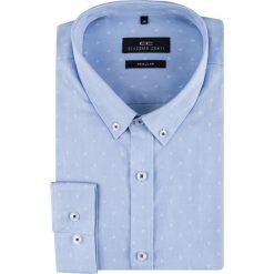 Koszula SIMONE KDNR000157. Niebieskie koszule męskie na spinki Giacomo Conti, na jesień, m, z bawełny, button down, z długim rękawem. Za 169,00 zł.