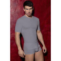 T-shirt męski Carllos M102. Brązowe podkoszulki męskie Astratex, m, z bawełny. Za 55,99 zł.