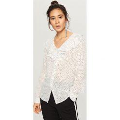 Koszula w kropki - Biały. Białe koszule damskie marki Adidas, m. Za 69,99 zł.