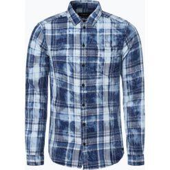 Koszule męskie na spinki: Tigha – Koszula męska – Tomke, niebieski