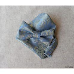 MUCHA niebieska, złota z Poszetką w Opakowaniu. Szare muchy męskie marki Mayoral, l, z bawełny, z klasycznym kołnierzykiem. Za 74,00 zł.