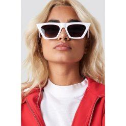 Okulary przeciwsłoneczne damskie aviatory: NA-KD Accessories Okulary przeciwsłoneczne kocie oczy - White