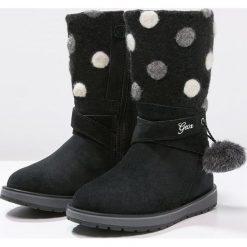 Geox NOHA Kozaki black. Niebieskie buty zimowe damskie marki Roxy, z tworzywa sztucznego, na wysokim obcasie. W wyprzedaży za 335,20 zł.