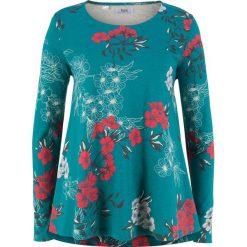 Tunika bawełniana shirtowa, długi rękaw bonprix kobaltowy z nadrukiem. Czerwone tuniki damskie z długim rękawem marki bonprix. Za 37,99 zł.