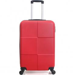 """Walizka """"Coronado"""" w kolorze czerwonym - 41 x 59 x 25 cm. Czerwone walizki Hero & BlueStar, z materiału. W wyprzedaży za 195,95 zł."""