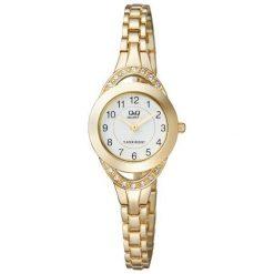 Zegarki damskie: Zegarek Q&Q Damski F581-004 Cyrkonie Biżuteryjny