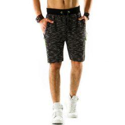 Spodenki i szorty męskie: Krótkie spodenki dresowe męskie czarne (sx0311)