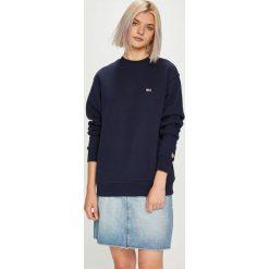 Tommy Jeans - Bluza. Szare bluzy damskie Tommy Jeans, l, z bawełny, bez kaptura. Za 299,90 zł.