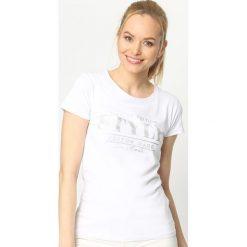 T-shirty damskie: Biały T-shirt Unlimited