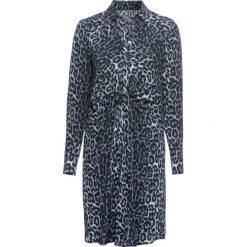 Sukienka bonprix niebieski leo. Niebieskie sukienki z falbanami marki bonprix. Za 129,99 zł.