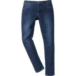 """Dżinsy ze stretchem Skinny Fit Straight z poliestrem z recyclingu bonprix ciemnoniebieski """"stone used"""". Niebieskie jeansy męskie relaxed fit marki bonprix. Za 54,99 zł."""