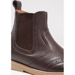 Froddo Botki dark brown. Brązowe botki damskie skórzane marki Froddo. W wyprzedaży za 216,30 zł.