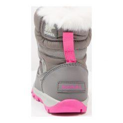 Sorel WHITNEY SHORT LACE Botki sznurowane quarry/pink ice. Szare buty zimowe damskie Sorel, z materiału, na sznurówki. W wyprzedaży za 223,30 zł.