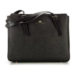 Torebki klasyczne damskie: Skórzana torebka w kolorze czarnym – (S)37 x (W)30 x (G)11 cm