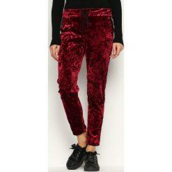 Spodnie dresowe damskie: Bordowe Spodnie Dresowe Glowing