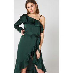 Długie sukienki: Hot & Delicious Sukienka maxi z odkrytym ramieniem - Green