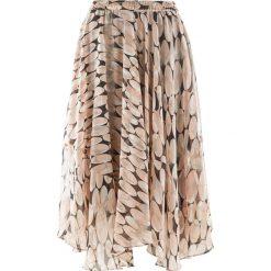 Spódniczki: Spódnica szyfonowa z nadrukiem bonprix stary jasnoróżowy z nadrukiem