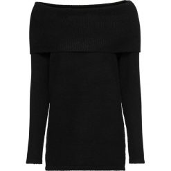 Swetry klasyczne damskie: Sweter z odkrytymi ramionami bonprix czarny nowy