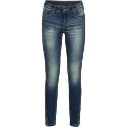 """Dżinsy SKINNY z ukośnym szwem bocznym bonprix niebieski """"stone"""". Niebieskie jeansy damskie bonprix, z jeansu. Za 49,99 zł."""