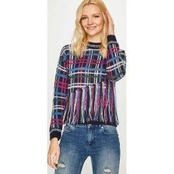 Pepe Jeans - Sweter Tinas. Szare swetry klasyczne damskie marki Pepe Jeans, m, z jeansu, z okrągłym kołnierzem. Za 339,90 zł.