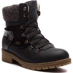 Trapery RIEKER - Y9143-01 Schwarz. Czarne buty zimowe damskie marki Rieker, z materiału. Za 329,00 zł.