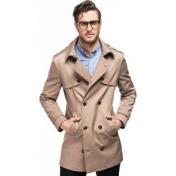 Płaszcz ALVARO PSES000058. Brązowe płaszcze na zamek męskie Giacomo Conti, na lato, m, z bawełny, eleganckie. Za 699,00 zł.