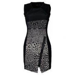 Desigual Sukienka Damska Santorini 40 Czarny. Szare sukienki marki Desigual, l, z tkaniny, casualowe, z długim rękawem. W wyprzedaży za 329,00 zł.