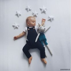 Ogrodniczki CZARNE. Czarne spodnie niemowlęce marki Pakamera, z dresówki. Za 79,00 zł.