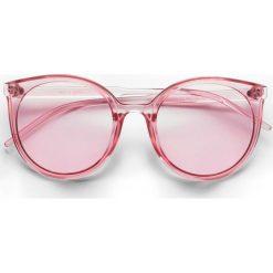Okulary przeciwsłoneczne bonprix jasnoróżowy. Czerwone okulary przeciwsłoneczne damskie aviatory bonprix. Za 37,99 zł.