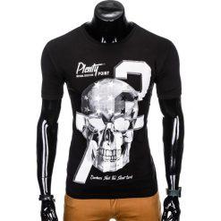 T-SHIRT MĘSKI Z NADRUKIEM S995 - CZARNY. Czarne t-shirty męskie z nadrukiem Ombre Clothing, m. Za 29,00 zł.