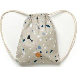 Worek dla dzieci Terrazzo szary. Szare walizki marki Ferm Living, w kolorowe wzory, z bawełny, duże. Za 60,00 zł.