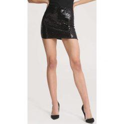 Czarna Spódnica Sell Me Candy. Czarne spódniczki other, uniwersalny, z dzianiny, mini, dopasowane. Za 59,99 zł.