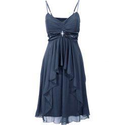 Sukienka wieczorowa bonprix ciemnoniebieski. Niebieskie sukienki koktajlowe bonprix, na ramiączkach. Za 149,99 zł.