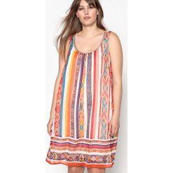 Sukienki hiszpanki: Krótka sukienka bez rękawów, wzorzysta, rozkloszowana