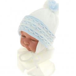Czapka niemowlęca z szalikiem CZ+S 008A. Szare czapeczki niemowlęce Proman. Za 36,70 zł.