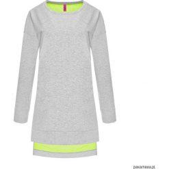 Bluza TUNIC z dłuższym tyłem szara. Szare bluzy damskie marki Pakamera, z bawełny. Za 99,00 zł.