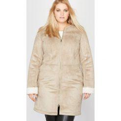 Płaszcze damskie pastelowe: Płaszcz imitacja owczej skóry