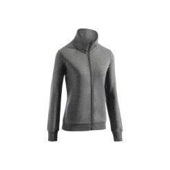Bluza na zamek Gym & Pilates damska. Szare bluzy rozpinane damskie DOMYOS, xl, z bawełny. Za 64,99 zł.