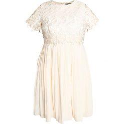 Sukienki hiszpanki: Little Mistress Curvy CREAM PROM Sukienka koktajlowa beige
