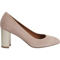 Buty ślubne damskie: Czółenka, skóra welurowa Eloana