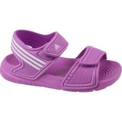Sandały dziewczęce Akwah 9 I fioletowe r. 24 (B40662). Fioletowe sandały dziewczęce Adidas. Za 92,58 zł.