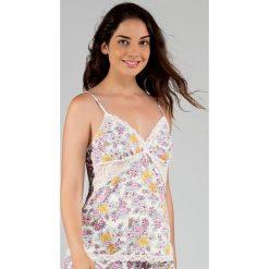 Dorina - Top piżamowy Sophia. Białe piżamy damskie marki MEDICINE, z bawełny. W wyprzedaży za 49,90 zł.