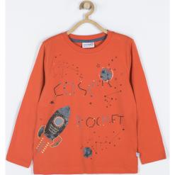 Koszulka. Brązowe t-shirty chłopięce z długim rękawem Cosmic, z aplikacjami, z bawełny. Za 45,90 zł.
