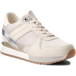 Sneakersy TOMMY HILFIGER - Sneaker Wedge FW0FW02977 Whisper White 121. Brązowe sneakersy damskie TOMMY HILFIGER, z materiału. Za 449,00 zł.