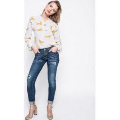 Guess Jeans - Jeansy Curve X. Niebieskie jeansy damskie rurki Guess Jeans. W wyprzedaży za 399,90 zł.