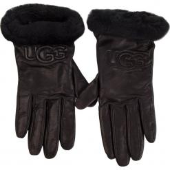 Rękawiczki Damskie UGG - W Classic Leather Logo Glove 17440  Black. Czarne rękawiczki damskie Ugg, ze skóry. Za 519,00 zł.