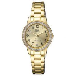 Zegarki damskie: Zegarek Q&Q Damski  QA27-013 Cyrkonie Biżuteryjny