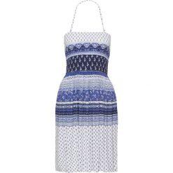 Sukienki hiszpanki: Sukienka bonprix niebieski wzorzysty