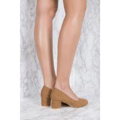 Buty ślubne damskie: NA-KD Shoes Czółenka z wycinanymi brzegami - Brown
