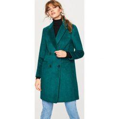 Płaszcz z domieszką wełny - Zielony. Brązowe płaszcze damskie marki DOMYOS, xs, z bawełny. Za 299,99 zł.